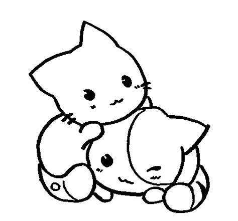 imagenes de perros kawaii para colorear gatos kawaii anime para colorear