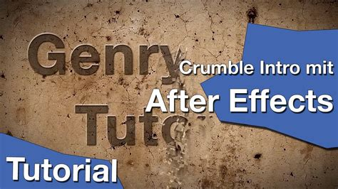 tutorial after effects intro after effects crumble intro tutorial youtube
