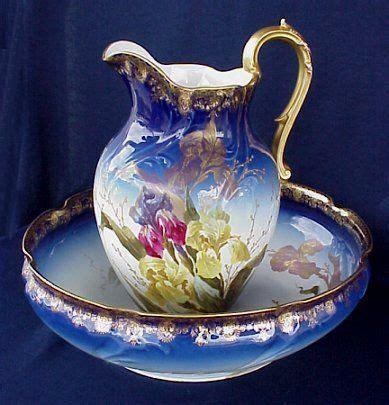 mosaik deko 1894 beautiful limoges cobalt wash bowl pitcher 1894