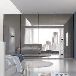 Closet Door Mirrors Bedroom Inspiring Large Master Bedroom With Mirrored Sliding Door Closet Design And Gray