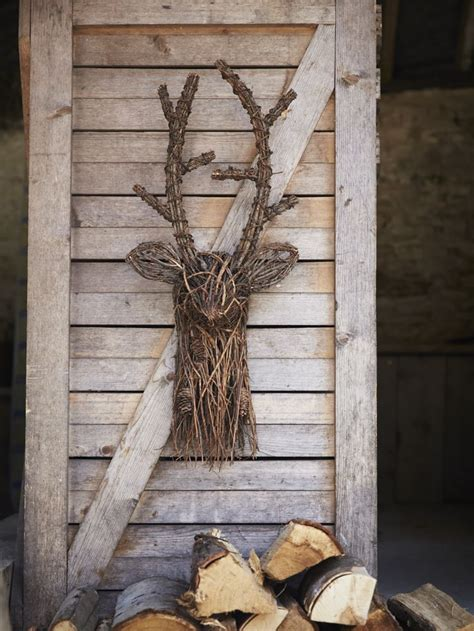 twig furniture woodland decor outdoor living deer and
