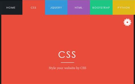 css layout menu left a css menu with tabs slider live demo