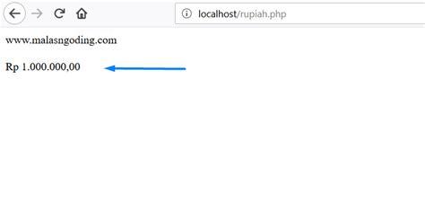 format php adalah membuat format rupiah di php malas ngoding