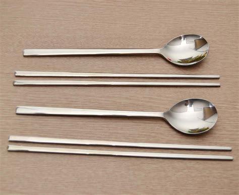 Japanese Kitchen Knives Uk korean chopstick amp spoon 2 set stainless steel chopsticks