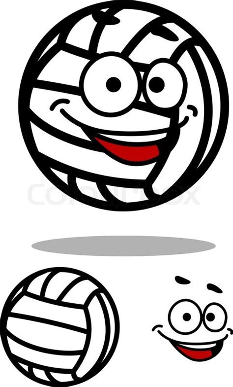 Beach Style Home Plans laughing white volleyball ball in cartoon style with