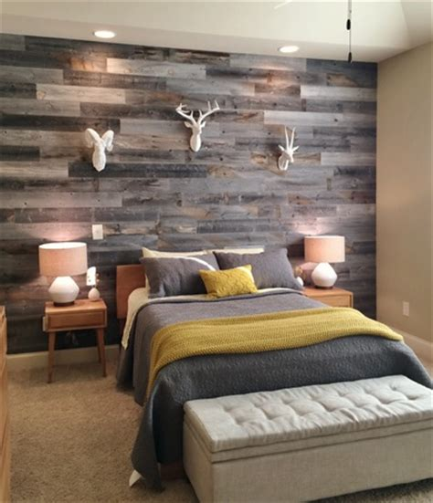 Distressed Wood Bedroom Wall Bedroom Wall Reclaimed Wood Paneling Home Interiors