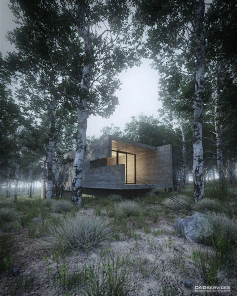 forest render making of house in the forest 3d architectural