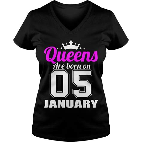 T Shirt 05 are born 05 january shirt hoodie sweater and v