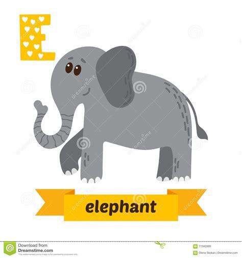 animals that start with the letter e elephant e letter cute children animal alphabet in 1077