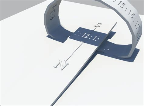 printable sun clock portable sun clock 3d model 3d printable stl cgtrader com