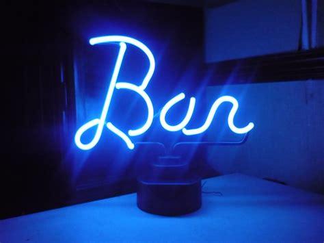 light up bar signs 12 quot neon light up bright or blue illuminated bar sign