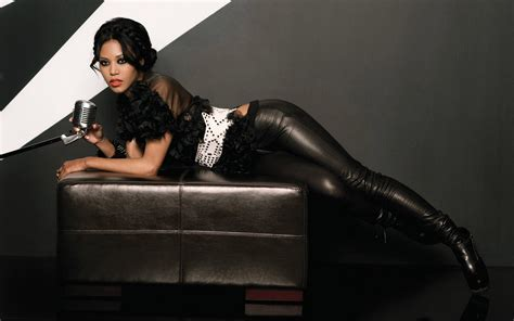 wallpaper leather girl 1920x1200 amerie wallpaper music and dance wallpapers