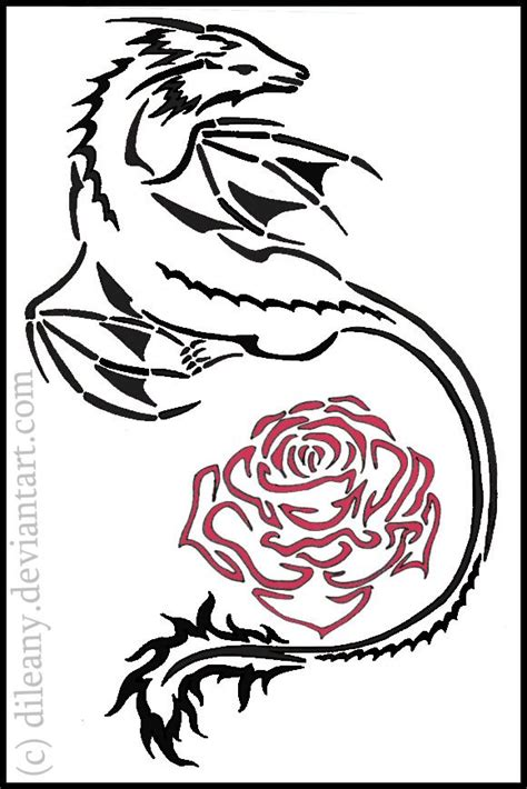 rose and dragon tattoos photo by claude berger
