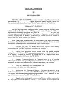 basic partnership agreement template free basic llc operating agreement by jmcinerny llc