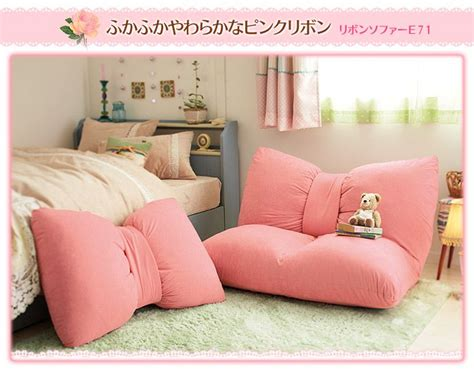 girls bedroom sofa japanese cute ribbon floor sofa i wish furniture like