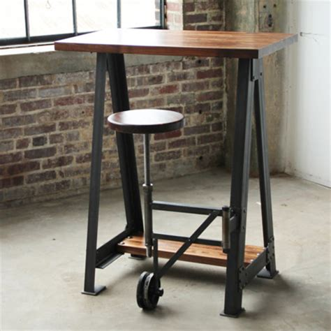 industrial stand up desk cos iron works modern iron industrial desks standup