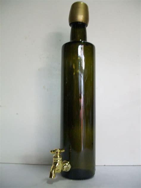 bottiglie di vetro con rubinetto bottiglia olio con rubinetto tonda enotecnica albese