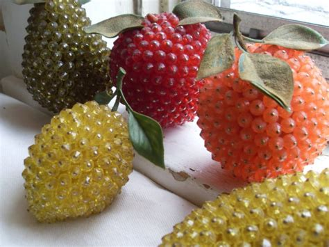 beaded fruit 90 best images about vintage beaded fruit on