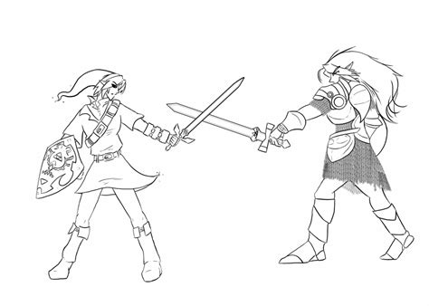 link vs ganon coloring pages coloring pages