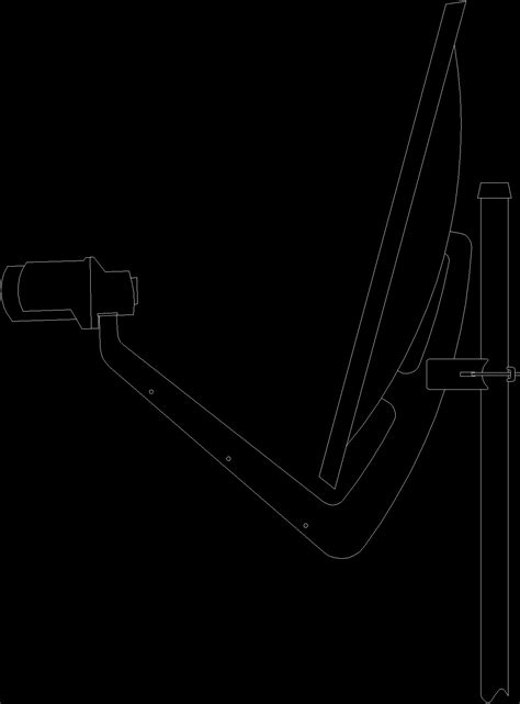 Lateral View Of Antenna DWG Block for AutoCAD • Designs CAD