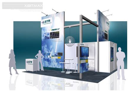 design booth inc str inc 20x20 trade show booth rental exhibitmax