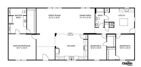 Veranda Floor Plan by Floor Plan For The Veranda Model Scl32723aclayton Homes