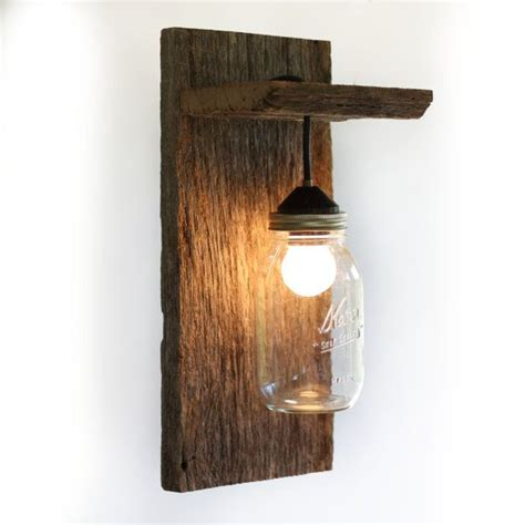 Barnwood Light Fixtures by Jar Light Wall Fixture Barnwood Wall Sconce Lighting