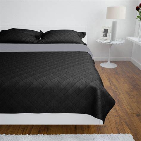copriletto nero articoli per copriletto reversibile nero grigio 220 x 240