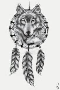 Native american dreamcatcher wolf drawing pin wolf dream catchers