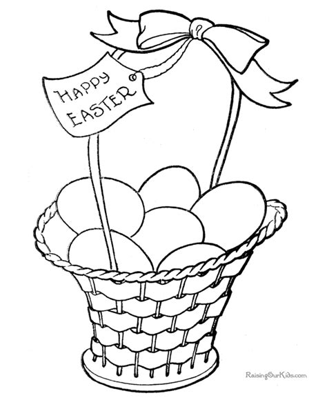 coloring pages of easter baskets free coloring pages of pictures easter
