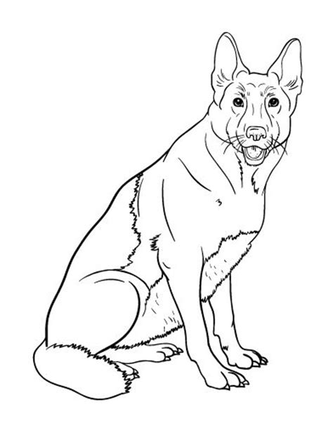 printable german shepherd coloring page free pdf download