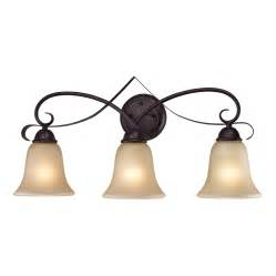 Westmore Vanity Lighting Shop Westmore Lighting Colchester 3 Light 12 In Rubbed Bronze Bell Led Vanity Light At Lowes