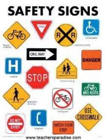 Safety signs chart from teachersparadise com teacher supplies and