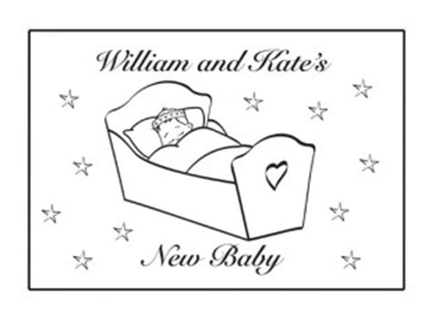 Royal Baby Coloring Pages | william and kate s new royal baby card ichild