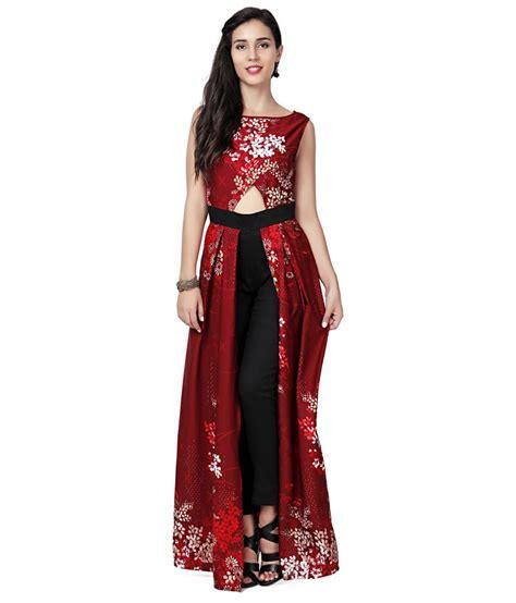 Bb Jumpsuit Miranda Maroon Maron buy eavan maroon black printed slim fit jumpsuit at best prices in india snapdeal