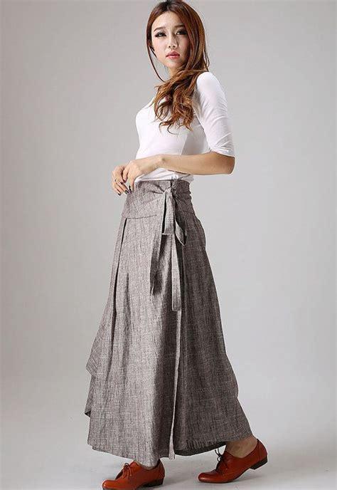 wrap skirt boho skirt linen skirt maxi skirt