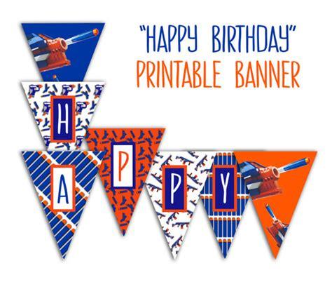 free printable birthday banner download nerf banner printable nerf party happy birthday banner nerf