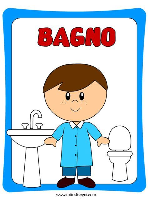 disegno bagno cartellone per la porta bagno bambini tuttodisegni