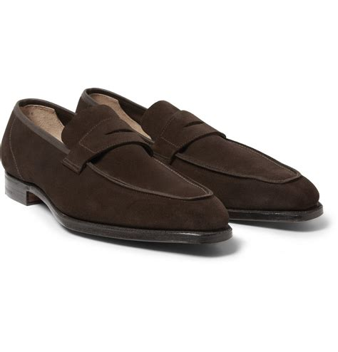 george cleverley loafers george cleverley george suede loafers in brown for lyst