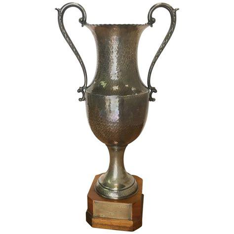 vintage wooden l base vintage trophy on wooden base for sale at 1stdibs