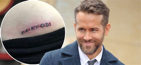 ryan reynolds tattoos pic this deadpool fan tattooed name