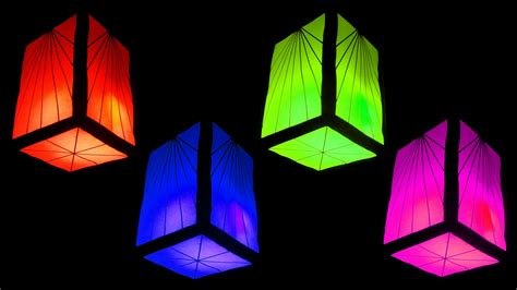 A Paper Lantern - how to make fancy paper lantern cube and home