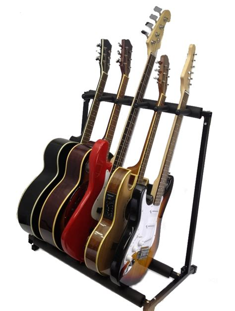 Instrument Rack by 5 Guitar Stand Five Instrument Display Rack