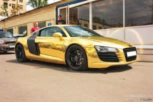 matte gold audi r8 in russia autoevolution