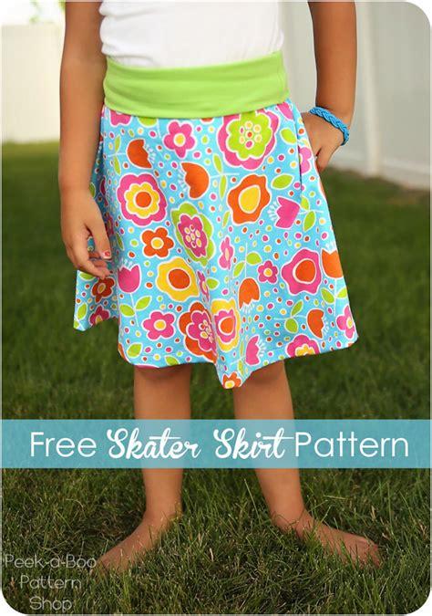 free pattern skater dress free skater skirt pattern for girls
