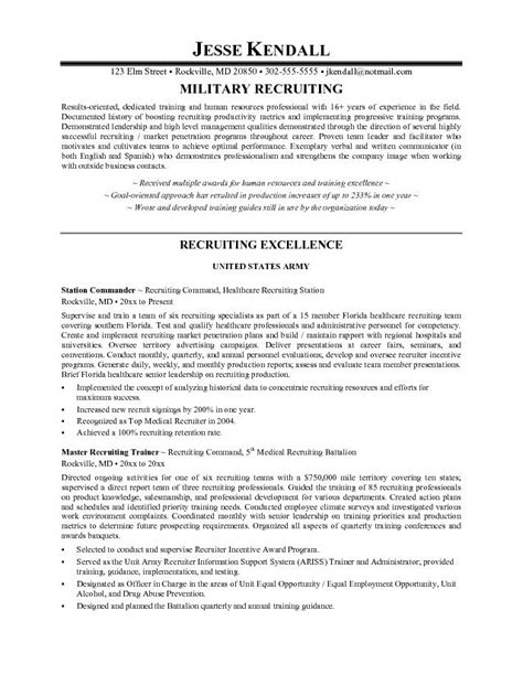 recruiter resume template 10 amazing recruiter resume writing resume sle