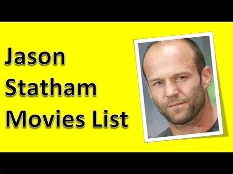 List Of Films Jason Statham Has Been In | jason statham movies list youtube