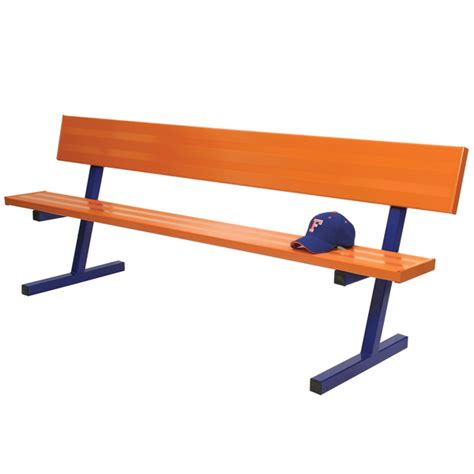 team bench aluminum team benches with back colored schoolsin