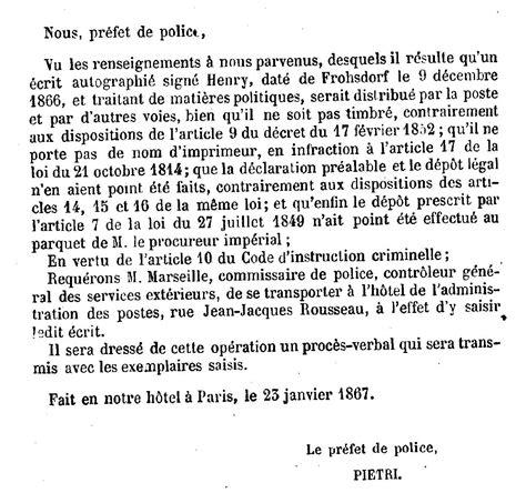 Exemple De Lettre Du Xix Siecle Lettre Comte De Chambord