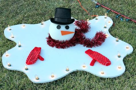 how to fix christmas lawn ornaments melted snowman yard decoration diy how to make a large big lights